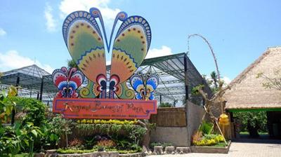keramas butterfly park bali indonesia